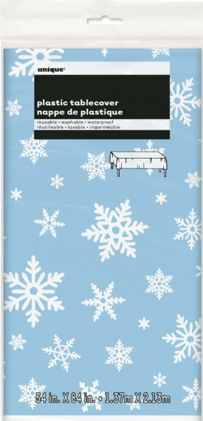 Snowflakes Plastic Tablecover